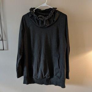 XL grey Cowl Neck maternity sweatshirt